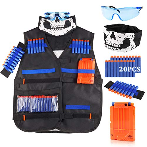UWANTME Tactical Vest Kit for Nerf Guns N-Strike Elite Series