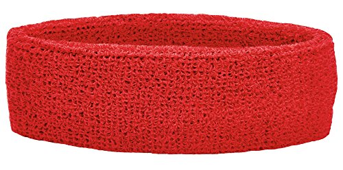 Unique Sports Thick Headband, One Size, Red