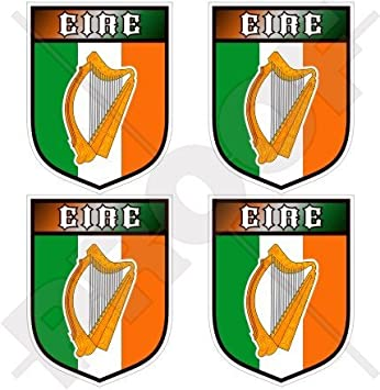 Irlande Eire Irlande Shamrock Shield 50/mm 5,1/cm bumper-helmet en vinyle autocollants Stickers x4