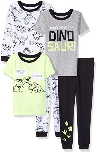 e 5-Piece Cotton Snug-Fit Pajamas, Dino, 5 ()