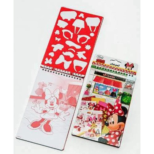 Disney 5980–Papeterie e adesivi knutselboek Minnie Mouse sjablonen piccoli, multicolore