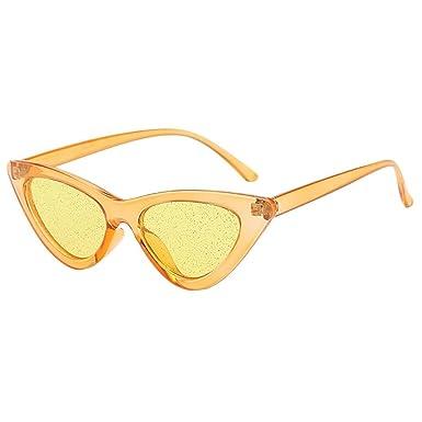 85ef628228 Rameng Vintage Cat Eye Paillettes Transparent Lunettes de soleil Lunettes  Rétro Mode (YQT80504198A): Amazon.fr: Vêtements et accessoires