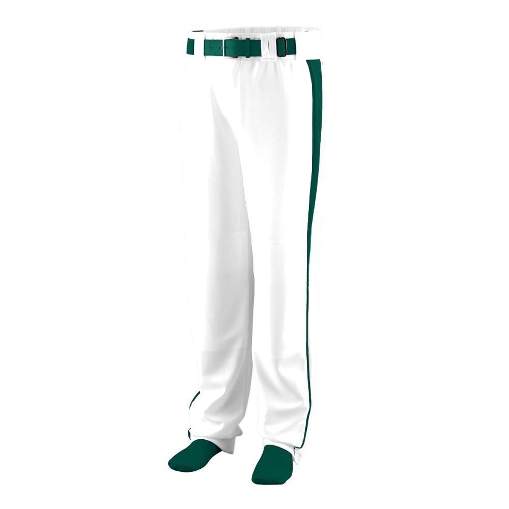 White Dark Green Large Augusta Sportswear 1466 Youth's Triple Play Baseball Pant