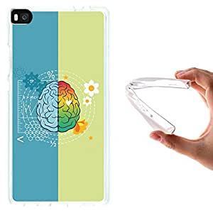 Funda Huawei P8, WoowCase [ Huawei P8 ] Funda Silicona Gel Flexible Cerebro, Carcasa Case TPU Silicona - Transparente