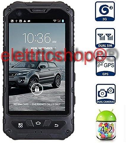 Elettricshop - Smartphone A8 Land Rover, impermeable, Dual Core (doble núcleo), 3000 mAh, 2 tarjetas SIM, GPS, Android: Amazon.es: Electrónica