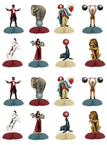 Beistle 54985 Vintage Circus Mini Centerpieces 16 Piece, 5