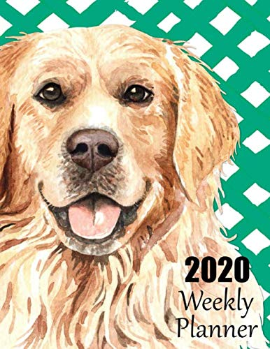 2020-Weekly-Planner-Adorable-Golden-Retriever-Dated-Planner-and-Organizer-for-Busy-Dog-Lovers-with-Monday-Start-Date-Two-Page-Weekly-and-Monthly–January-thru-December-Notes-on-Every-Page