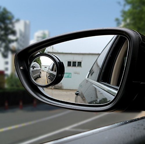 VNDEFUL High Purity Adjustable Small Round Mirror Blind Spot Mirror Astern Wide-Angle Mirror Automobile Rear View Mirror Auxiliary Mirror Assembly