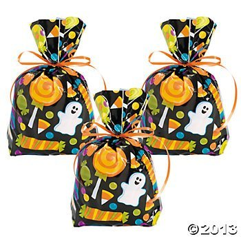24 Halloween Cellophane Goody Bags by FX -
