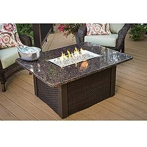 Amazon Com Grandstone Crystal Fire Pit Table W Napa Valley Base Amp Granite Top