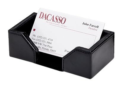 Amazon dacasso office desk tabletop decorative econo line black dacasso office desk tabletop decorative econo line black leather business card holder display standecono colourmoves