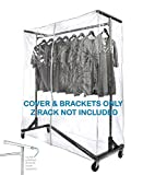 Only Hangers #SH102 + #SN-022 Cover and Supports Heavy Gauge Clear Z Rack Cover,