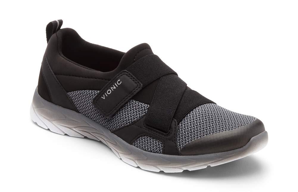 Vionic Women's Brisk Dash Slip-on Sneaker Black Charcoal 9.5M