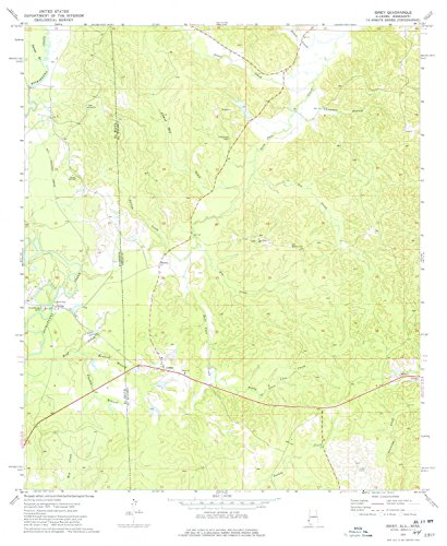 YellowMaps Isney AL topo map, 1:24000 Scale, 7.5 X 7.5 Minute, Historical, 1974, Updated 1977, 26.8 x 21.9 in - Paper