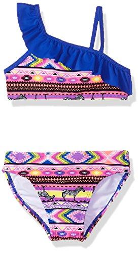 Freestyle Little Girls' Two Piece Ruffle Top Africa Bikini Swimsuit Set, Multi, 6 by Freestyle
