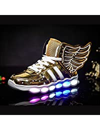 Kids High Top Rechargeable LED Flashing Detachable Wing Shoes (Toddler/Little Kids/Big Kids)