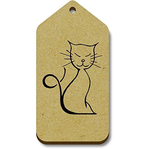 Tag cat' bagaglio X tg00067297 66mm Azeeda 10 regalo 34mm 'Happy 4YwWfq