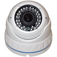 "Camvtech USA - AHD 2.0 MPl 1080P 1/3 Sony IMX225 2.8-12mm Varifocal Lens 36 IR Led, color ""Indoor & Outdoor Weatherproof"" White Dome Camera, OSD Control"