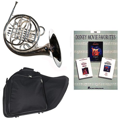 Band Directors Choice Silver Plated Double French Horn Key of F/Bb - Disney Movie Favorites Pack; Includes Intermediate French Horn, Case, Accessories & Disney Movie Favorites Book by Double French Horn Packs
