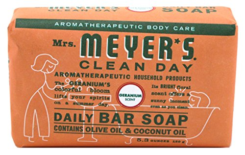 Mrs Meyers Bar Soap Geranium 5.3 Ounce (156ml) (6 Pack) ()