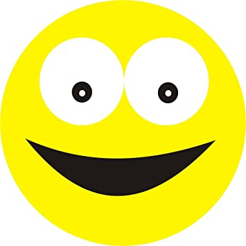Big smile face yellow smiley car bumper sticker design 1