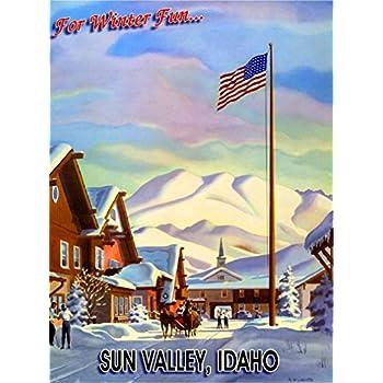 Sun Valley Idaho Winter Ski 3 United States America Travel Advertisement Poster