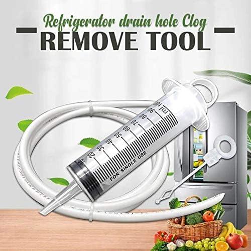 limpiador de desag/ües Lefeindgdi Extractor de agujeros de drenaje de refrigerador herramientas de limpieza reutilizables kit de herramientas de limpieza para refrigeradores dom/ésticos