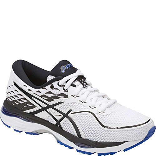 ASICS Women's Gel-Cumulus 19 Running Shoe, White/Black/Blue Purple, 9.5 Medium (Groove Shopper)