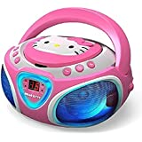 Hello Kitty CD Boombox with AM/FM Radio and LED Light Show OPEN BOX