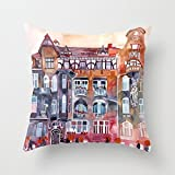 Slimmingpiggy Throw Christmas Pillow Case 20 X 20 Inches / 50 By 50 Cm(two Sides) Nice Choice For Relatives Coffee House Indoor Pub Father Bench Watercolor