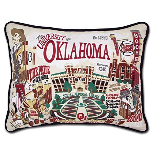 catstudio- University of Oklahoma Embroidered Throw Pillow - 16