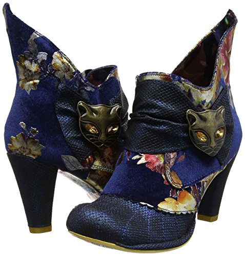 Miaow Donna Stivaletti Blu Choice Floral Multi Irregular blue AOqzSn