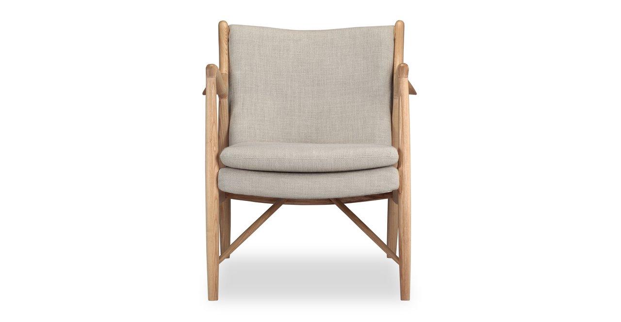 Strange Kardiel Copenhagen 45 Mid Century Modern Arm Chair Urban Hemp Twill Natural Creativecarmelina Interior Chair Design Creativecarmelinacom