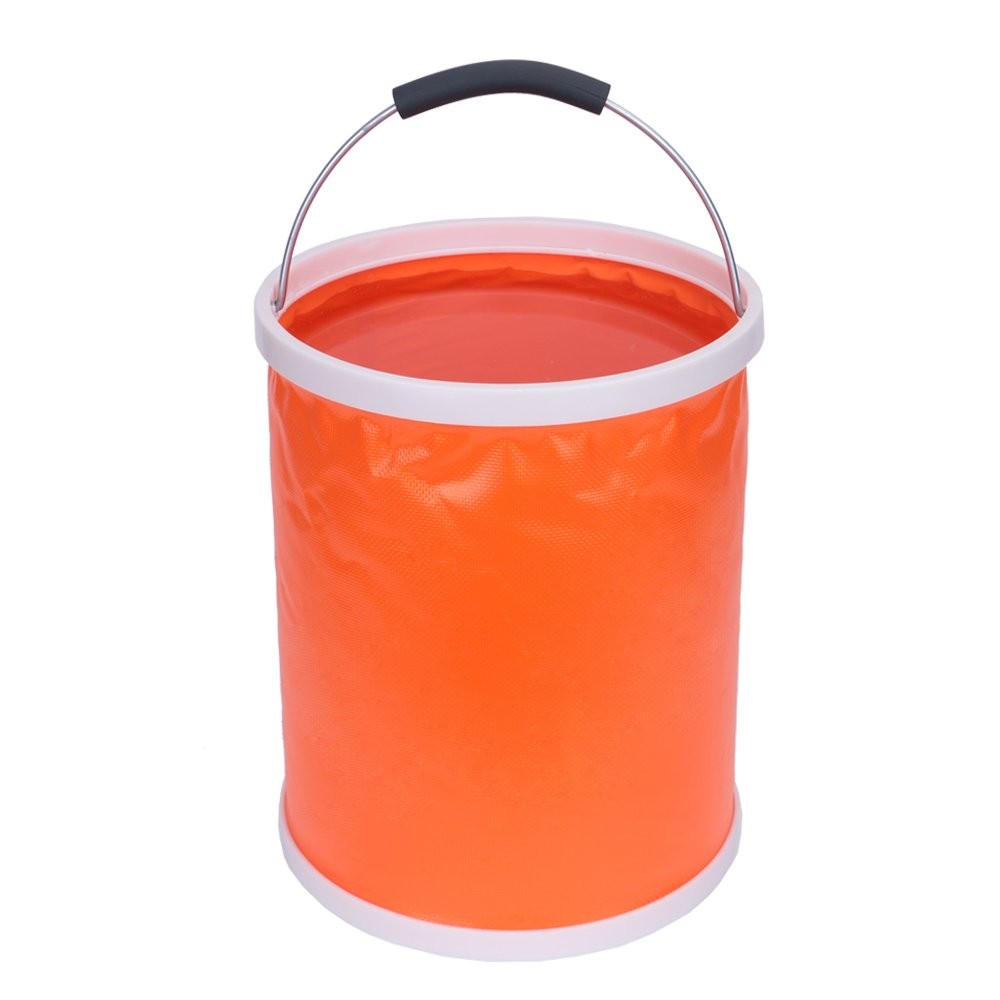 Great for Hiking 13L//3.4Gallons Emergency Compact Portable Folding Water Container Travel Boating and Kids Toy Storage Box iRonrain Upgraded Collapsible Camping Fishing Bucket