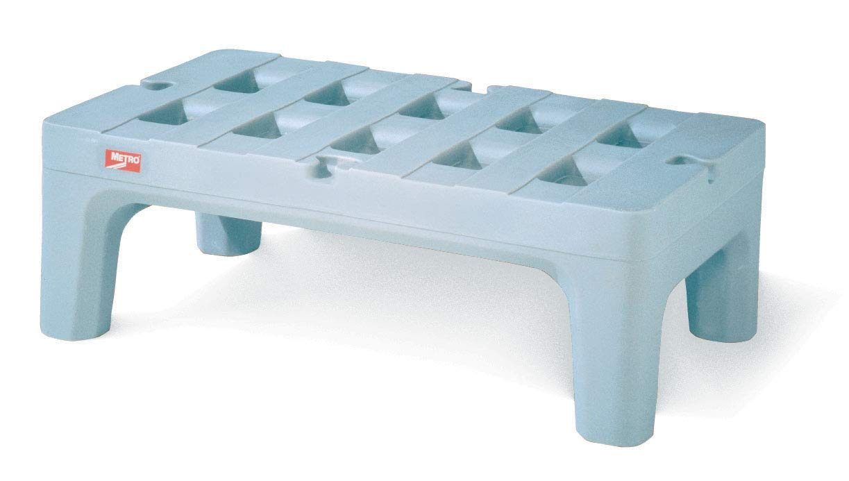 Metro HP2230PDMB Bow-Tie Polyethylene Dunnage Rack with Microban Antimicrobial, 1500 lbs Capacity, 30'' Length x 22'' Width x 12'' Height, Gray by METRO