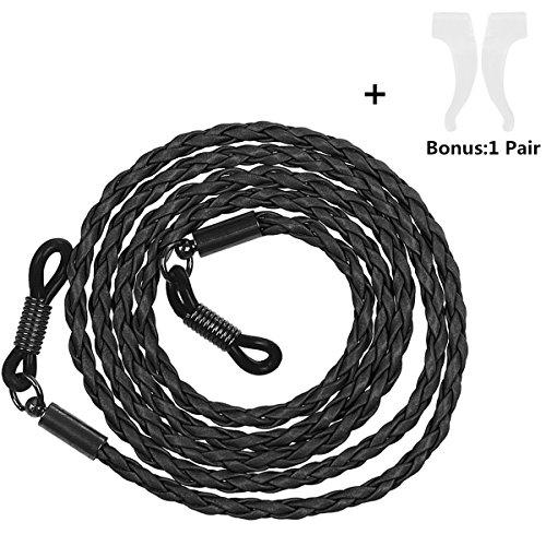 xhorizon FL1 Premium Soft PU Leather Braid Eyeglass Chains Sunglass Holder Strap Cord Lanyard - Amazon Holder Sunglass