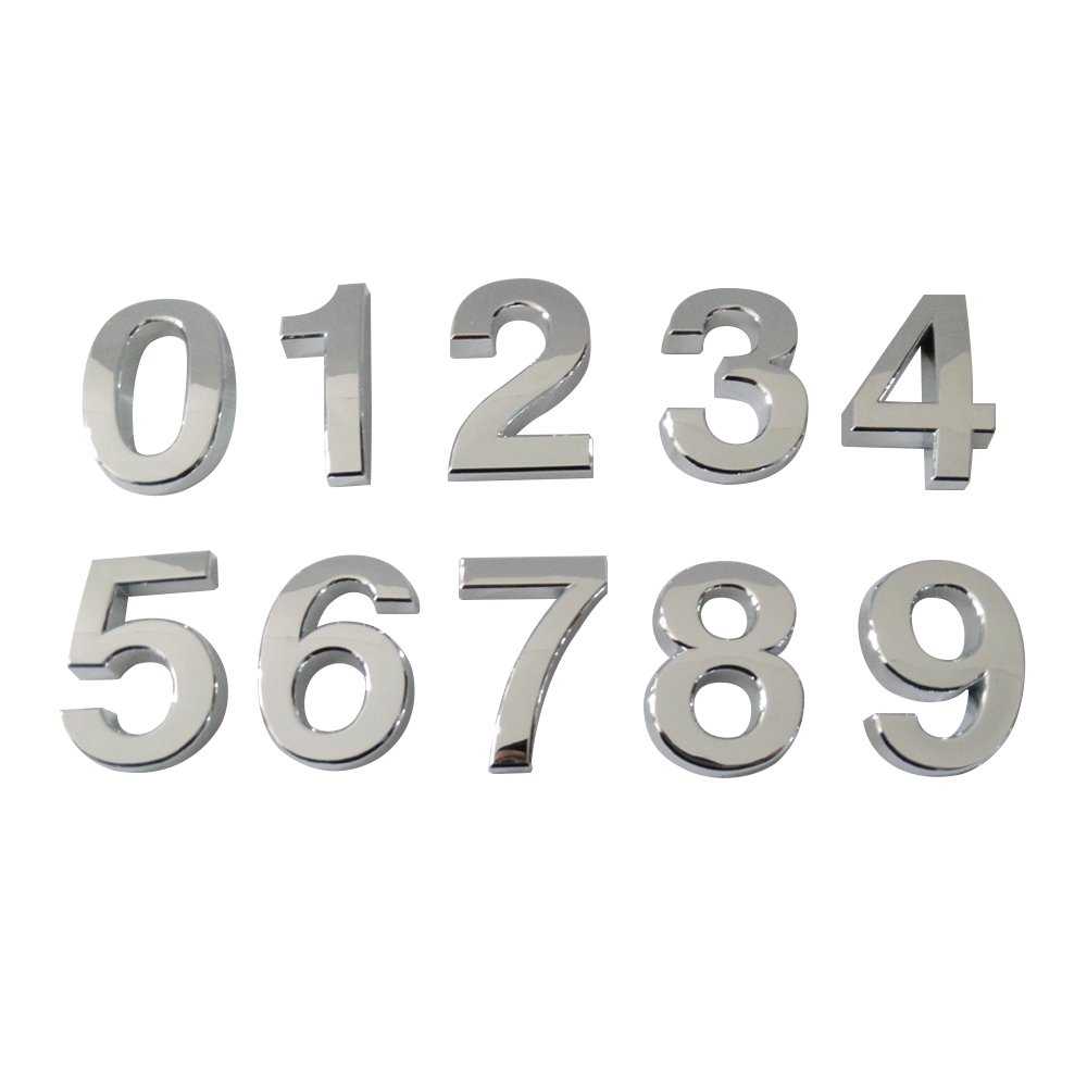 (Pack of 2PCS) Aspire 4 H Door, House, Hotel Number, Address Sign, Digit (0-9), with Self-Adhesive Backing-Gold-8 LD0017_GOLD-8