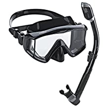 Phantom Aquatics Panoramic Scuba Snorkeling Dive Mask Snorkel Combo