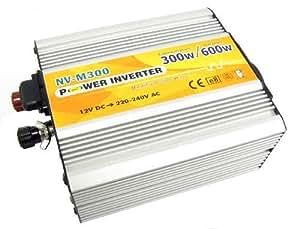 Cablematic - Inversor eléctrico onda modificada 12V a 220V de 300W USB