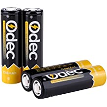 Odec 18650 Battery, 3.7V / 45A 3350mAh High Drain Li-ion INR Rechargeable Batteries Pack with Flat Top (4-Pack)