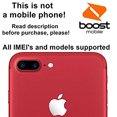 Boost Mobile USA Unlocking Service for iPhone 7, 7 Plus, 6s, 6s Plus, 6, 6 Plus, SE, 5s, 5c, 5, 4s Models - Make Your Device More Useful Than Before - Choose Any Carrier at Your Own at Any Time You Need - No More Suffering with Locked Devices - Free Yourself and Enjoy Your Freedom Like Never (Gsm Unlocked Iphones S3)