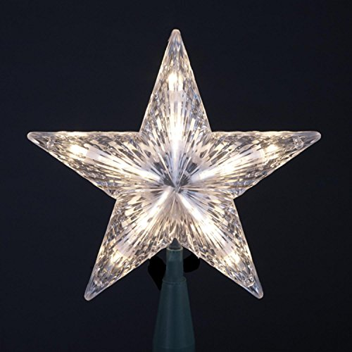 Kurt Adler 7'' Classic 5-Point Star Christmas Tree Topper - Clear Lights by Kurt Adler