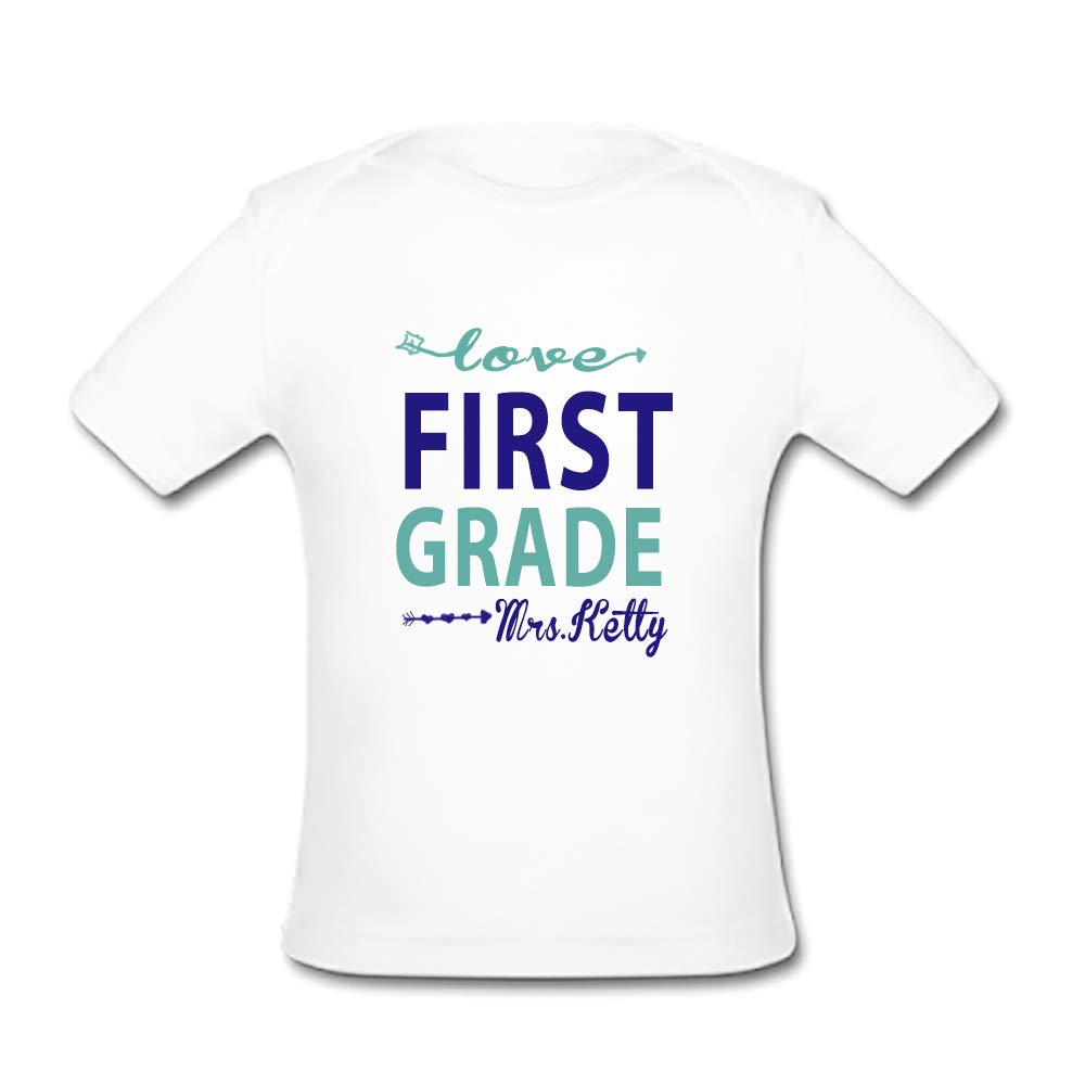 BrowneOLp Infant Tee First Grade Baby Organic Short Sleeve T-Shirt White