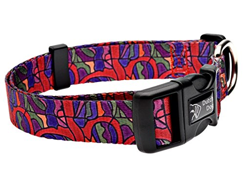 Dutch Dog Amsterdam Eco Friendly Van Heemskerck Dog Collar, 20-25-Inch, Large