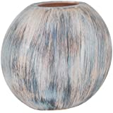 Kiera Grace Oval Wood Vase with Weathered Look Finish, 5.7 by 3.35 by 5-Inch