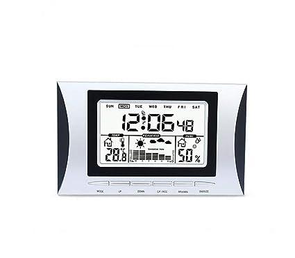 Alarma meteorológica inalámbrica SXW, reloj despertador de la estación meteorológica, reloj digital LED,