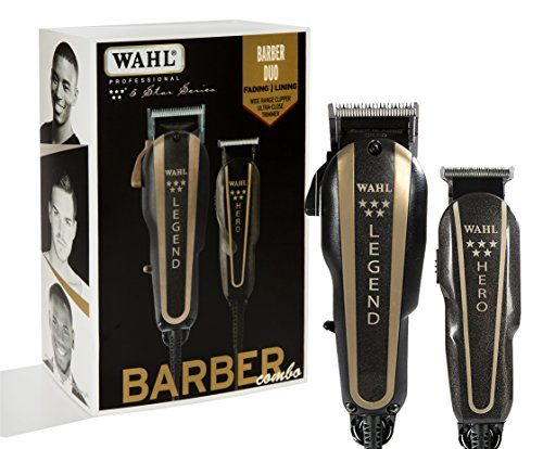 - Wahl Professional 5-Star Barber Combo #8180 Features a New Look 5-Star Legend Clipper and Hero T-Blade Trimmer