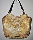 Brahmin Marianna White Tortoise Coro Leather Shoulder Bag