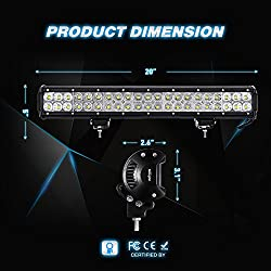 Nilight Light Bar 2PCS 20 Inch 126W LED Lights Spo