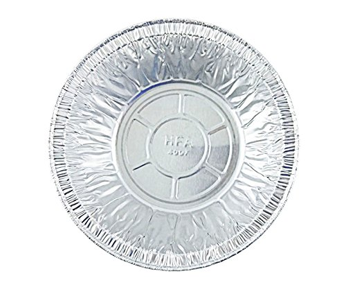 50 Count 5 3/4'' Disposable Aluminum Pot Pie/Deep Individual Pie Pan 12 oz. Capacity